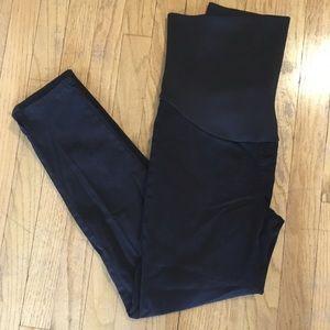 Lila Ryan black maternity cropped pants